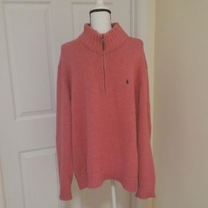 Polo Ralph Lauren 100% Cotton Pink Sweater 2XL